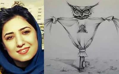 Atena-Farghadani-caricature