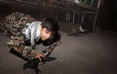 children-war-training