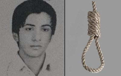 Iran regime executed young man for an offence committed when he was 15