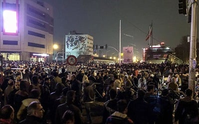 Demonstrations continue in cities across Iran for 7th day
