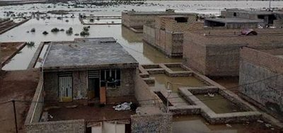 Iran Villages in Khuzestan surrounded by floods, While no sign of state relief