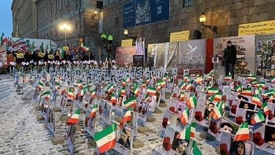 Iran Protests: Photo Exhibit of Martyrs in Stockholm