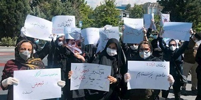 Women widely participated in protests of teachers, doctors and nurses Teachers' protests