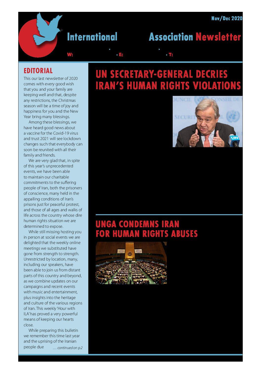 ILA Newsletter-2020 NOV-DEC